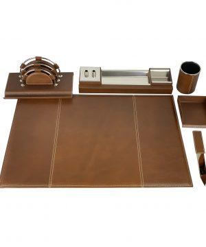 Stolový kancelársky set vo svetlo hnedej farbe - Kompletný set