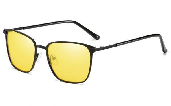 Decentné polarizované okuliare na nočnú jazdu s tenkým rámikom