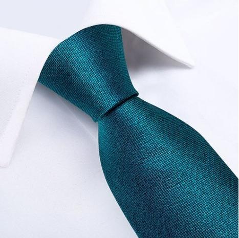 Kvalitná pánska kravatová sada v tyrkysovej farbe - viazanka + gombíky + vreckovka