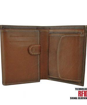RFID kožená peňaženka vo svetlo cigaro farbe č.8560