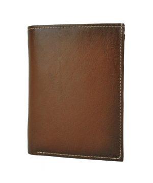 Luxusná kožená peňaženka č.8560 v Cigaro farbe, ručne tieňovaná