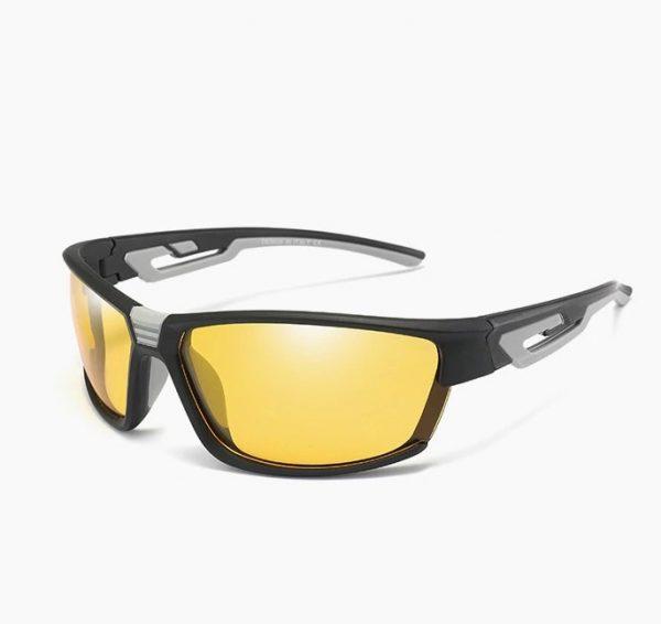 Športové polarizované okuliare na noc s dvojfarebným rámom