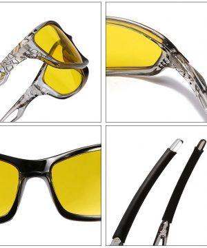 Športové polarizované okuliare na nočnú jazdu s moderným dizajnom