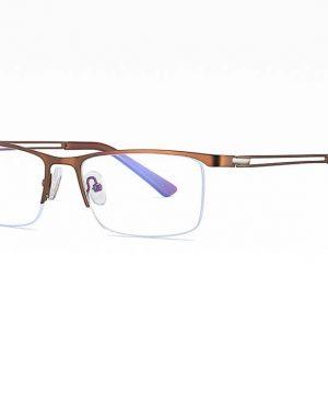 Business luxusné okuliare s filtrom proti žiareniu počítača - hnedé