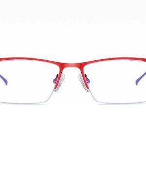 Moderné okuliare s ochranným filtrom proti žiareniu PC v červenej farbe