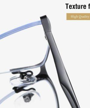 Moderné okuliare s ochranným filtrom proti žiareniu PC v čiernej farbe