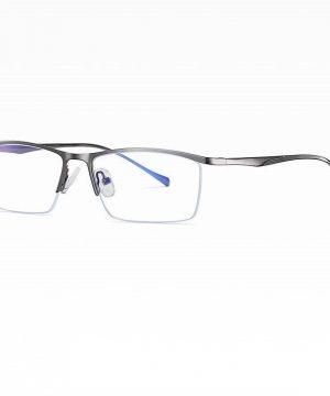 Moderné okuliare s ochranným filtrom proti žiareniu PC v sivej farbe