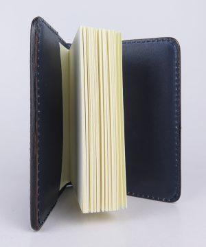 Ručne vytvarovaný, vyrezávaný a reliéfny kožený zápisník - Blue Ancient