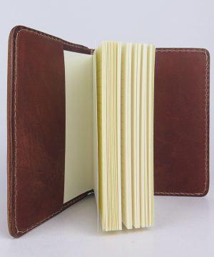 Ručne vytvarovaný, vyrezávaný a reliéfny kožený zápisník - Gold Ancient