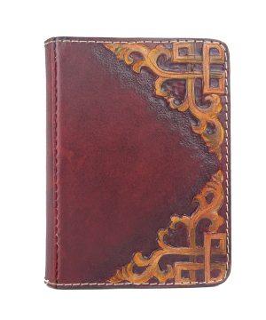 Ručne vytvarovaný, vyrezávaný a reliéfny kožený zápisník - Kronika