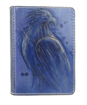 Ručne vytvarovaný, vyrezávaný a reliéfny kožený zápisník - Orol skalný