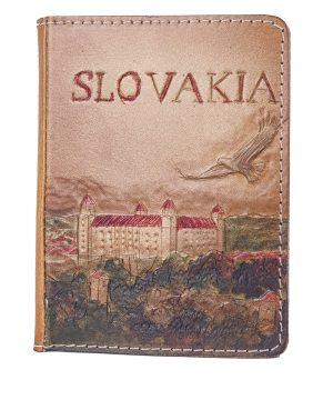 Ručne vytvarovaný, vyrezávaný a reliéfny kožený zápisník - Slovakia, Bratislavský hrad