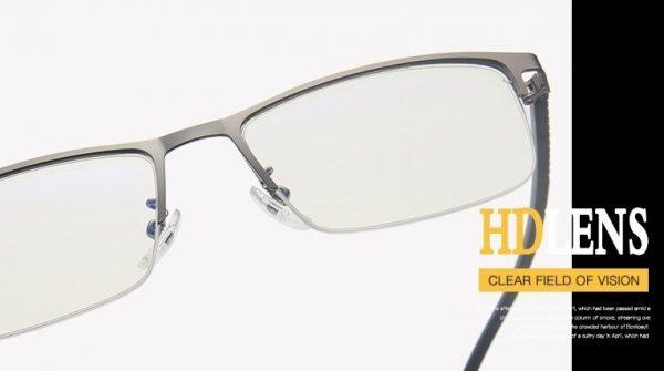 Luxusné moderné okuliare s filtrom na prácu na PC s čiernym rámikom