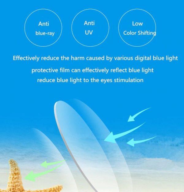Štýlové odolné okuliare s filtrom na prácu na počítači