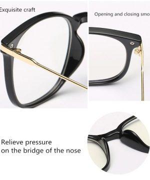 Štýlové okuliare s filtrom na prácu pri počítači c čierno-zlatým rámom