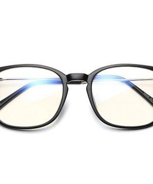 Štýlové okuliare s filtrom na prácu pri počítači s čierno-strieborným rámom