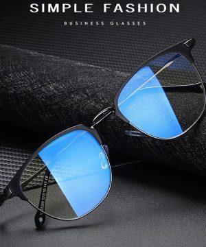 Štýlové okuliare s filtrom proti žiareniu monitora - čierny rám