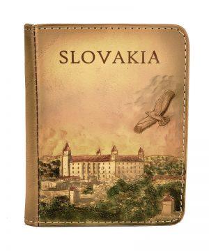 Ručne tvarovaný, vyklepávaný reliéfny kožený diár - Slovakia, Bratislavský hrad