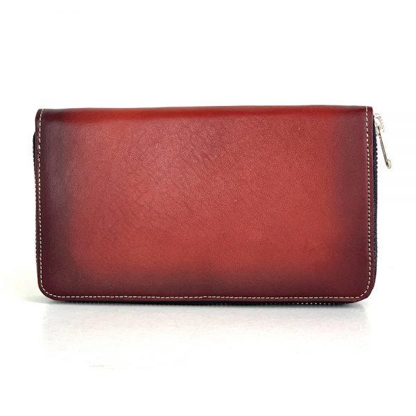 Luxusná dámska nákupná kožená peňaženka č.8606 ručne tieňovaná