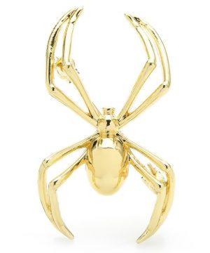 Luxusná módna brošňa v podobe zlatého pavúka