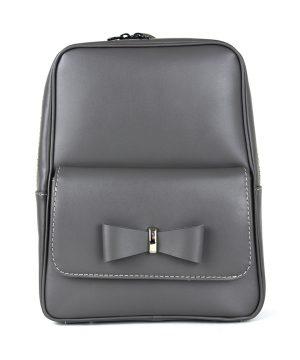 Luxusný kožený ruksak z pravej hovädzej kože č.8666 v šedej farbe