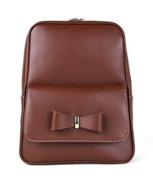 Luxusný kožený ruksak z pravej hovädzej kože č.8666 v hnedej farbe