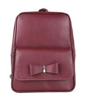 Luxusný kožený ruksak z pravej hovädzej kože č.8666 v bordovej farbe