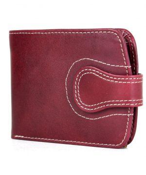 Luxusná elegantná kožená peňaženka č.8467 v bordovej farbe