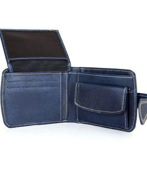 Luxusná elegantná kožená peňaženka č.8467 v modrej farbe