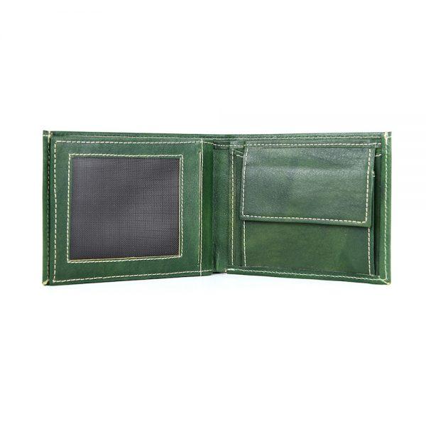 Luxusná peňaženka z pravej kože č.8407 v tmavo zelenej farbe