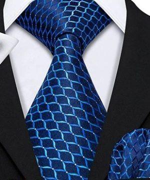 Kravatový set s vreckovkou a gombíkmi s modrým vzorom