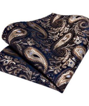 Luxusný set - kravata, manžety a vreckovka s luxusným vzorom