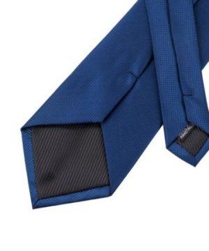 Luxusný set - kravata, manžety a vreckovka v modrom prevedení