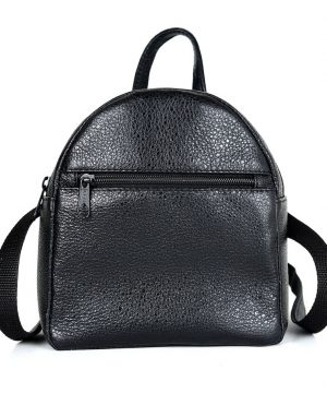 Mini kožený ruksak z pravej kože č.8748 v čiernej farbe