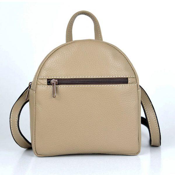 Luxusný Mini kožený ruksak z pravej kože č.8748 v hnedej farbe