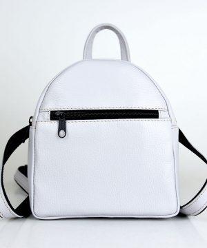 Luxusný Mini kožený ruksak z pravej kože č.8748 v perlovej farbe