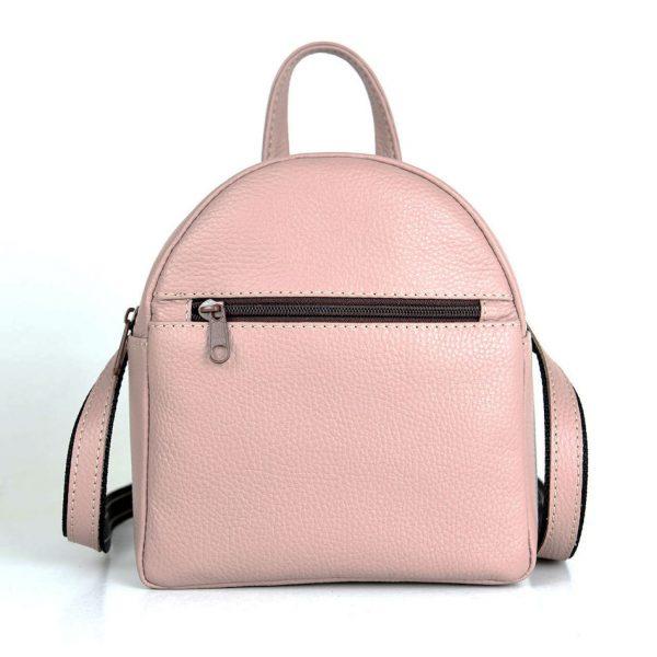Mini kožený ruksak z pravej kože č.8748 v ružovej farbe.