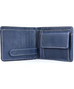 Luxusná peňaženka z prírodnej kože č.7992 v modrej farbe