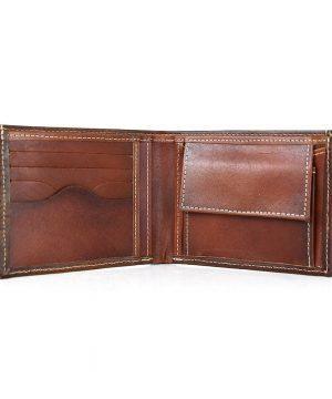 Luxusná peňaženka z pravej kože č.8406 v Cigaro farbe, ručne natieraná