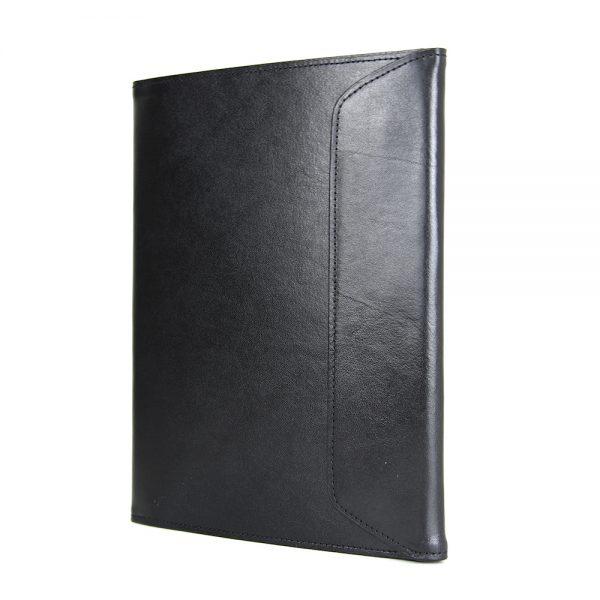 Luxusný kožený pracovný zápisník A5 v čiernej farbe