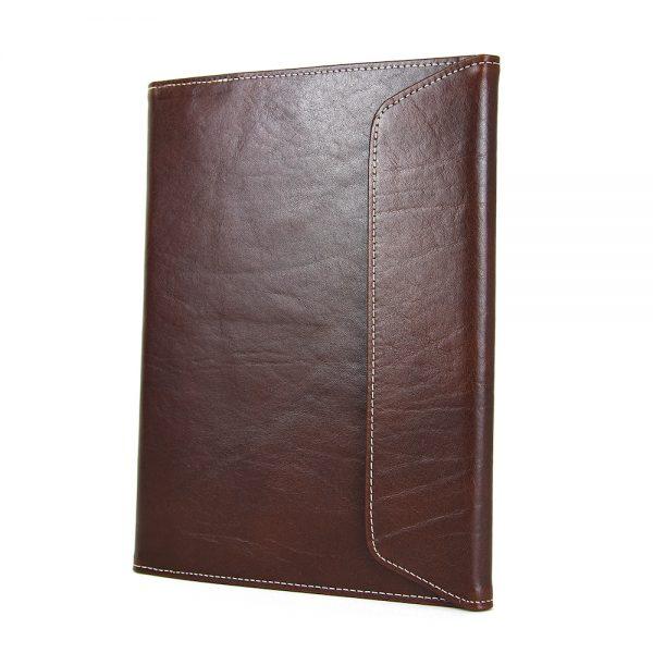 Luxusný kožený pracovný zápisník A5 v tmavo hnedej farbe