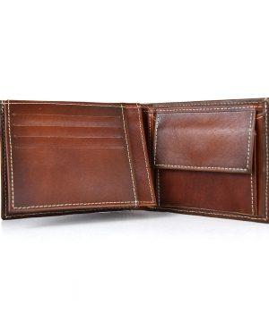 Luxusná peňaženka z pravej kože č.8408 v Cigaro farbe, ručne natieraná