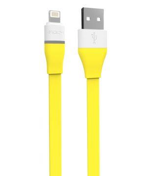 Lightning kábel LED pre Apple zariadenia, 100cm, automatické odpojenie, žltá farba