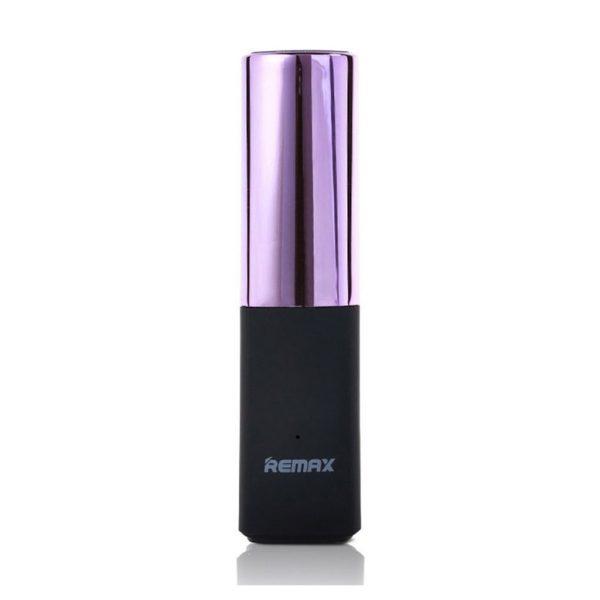 Remax Lipstick 2400mAh Powerbank, ružová farba