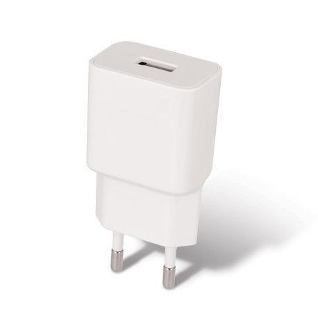 Sieťová USB nabíjačka SETTY, 2.4A + micro USB kábel 1 meter, biela farba