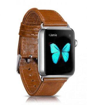 Kožený náramok pre Apple Watch iCarer, Hovädzia koža, Leather Series