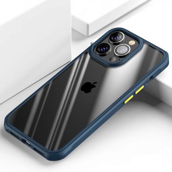 Luxusné nárazuvzdorné púzdro pre iPhone 13 Pro MAX, modrá farba