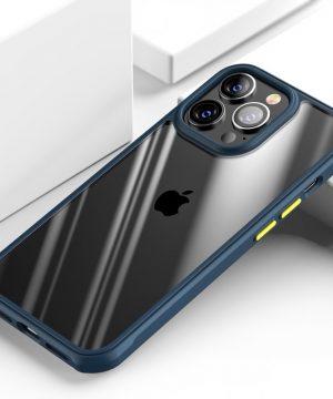 Luxusné nárazuvzdorné púzdro pre iPhone 13, modrá farba