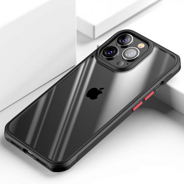 Luxusné nárazuvzdorné puzdro pre iPhone 13, čierna farba