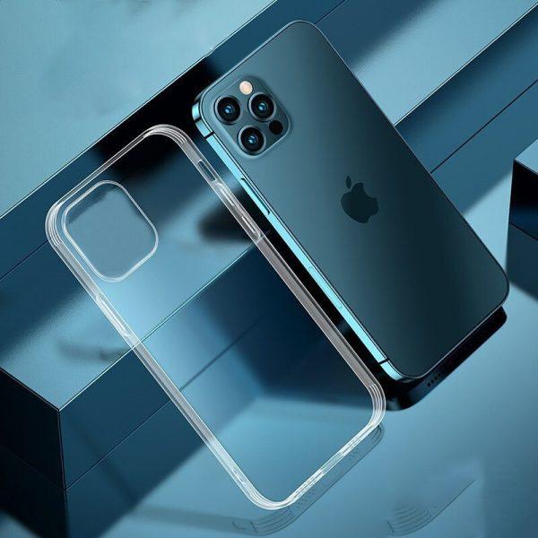 Luxusný silikónový obal pre iPhone 13 MINI, transparentný